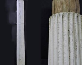 SHOP CLOSING SALE Pair Antebellum Fluted Wood Columns. Architectural Salvage.
