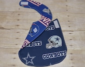Reversible Dallas Cowboys and New York Giants Baby Bib for the baby with Both Fans in the Family