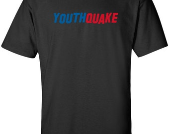 YouthQuake funny political 60s era youth culture T-shirt