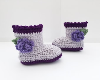 crochet baby shoes, crochet baby booties, baby girl shoes