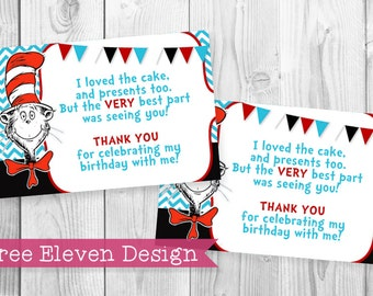 Cat in the Hat PRINTABLE Thank You Card
