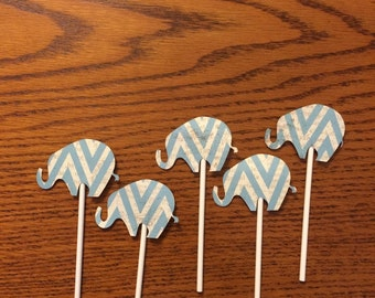 Elephant cupcake toppers 24