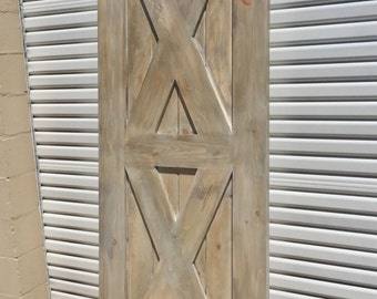 Custom Built Vintage Double X Barn Door