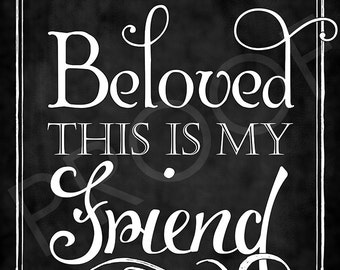 Scripture Art - Solomon 5:16 ~ Chalkboard Style