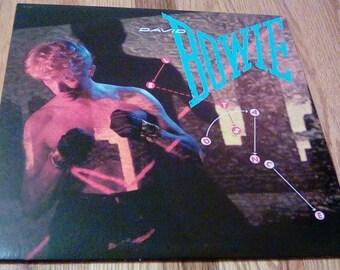 Vintage 1983 David Bowie Lets Dance Vinyl Record Album Modern Love China Girl Ricochet Cat People