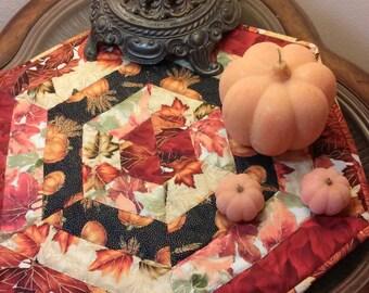 Fall Candle Mat/Leaves/Pumkins/