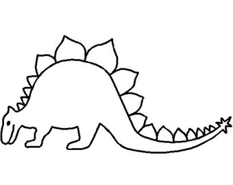 NOTION - Stencil - Template:  STEGOSAURUS DINOSAUR - Applique Template - Quilt Stencil - Animals - Layer Cake Friendly