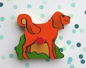 Vintage puzzle piece magnet/ Dog/ Simplex magnet