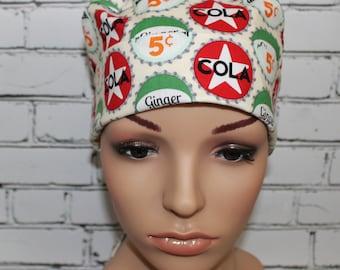 Bottle Caps, Surgical Scrub Hat ,OR Nurses Surgical Scrub Hat,  Chemo Cap, Women's Surgical Scrub Hat, Vet