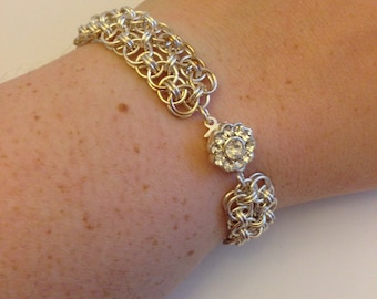 Silver Helm Bracelet