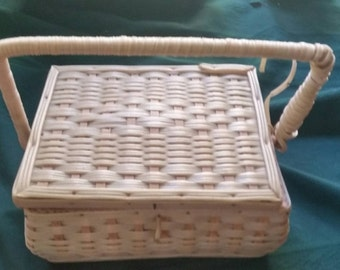 Antique Sewing Basket  fully loaded