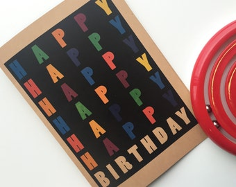Colorful Happy Birthday Card
