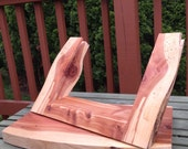 CLOSE OUT Rustic Cedar iPad Desktop Swivel Base Stand for Square Retail POS or Home  Applications