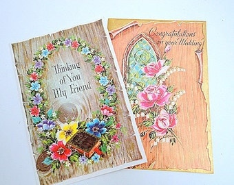 Vintage Boxed cards Woodtone All Occasions 1960s NOS Sunshine Line 15 Cards