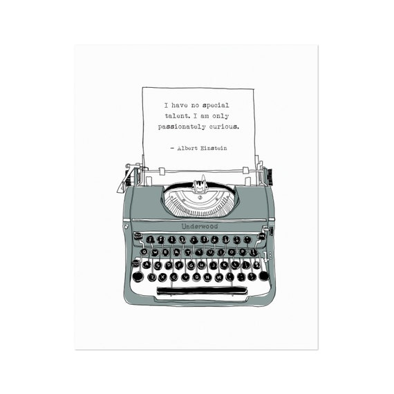 Vintage Typewriter Art Print. Inspirational By HarvestPaperCo