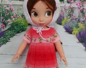 "handmade Outfit for Disney Animators 15"" doll - Dress, Rabbit Hat and Leggings - Easter"