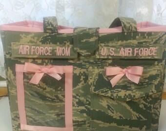 air force purse. handmade
