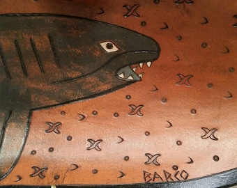 Leather Shark Bowl - Barco