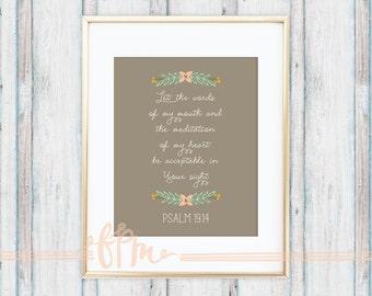 Psalm 19:14 8x10 Poster Print