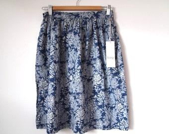 Forest blue cotton skirt