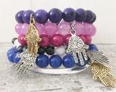 blue hamsa bracelet