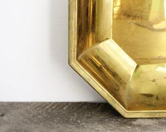 Vintage Brass Bowl - Geometric Decor - Modern Vintage Brass Decor