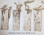 Rustic Birch Gift Tags  - Set of 4