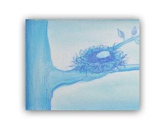 Baby Nursery Wall Art, Birds Nest Art Print, Nursery Decor, Wall Art for Nursery, Birds Prints, Children Decor