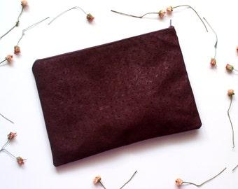 Garnet ostrich clutch, garnet ostrich bag, garnet purse, vegan bag, garnet bag, garnet clutch, ostrich clutch, handbag - Think