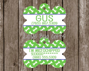 Personalized pet tag - Bone Background