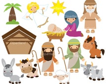 INSTANT DOWNLOAD. Nativity 1. Christmas. Personal and commercial use.