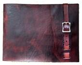 Large, Refillable Leather Sketchbook, Antique Brass Metal Roller Buckle, Journal, Drawing Book, Sketchbook cover, Album