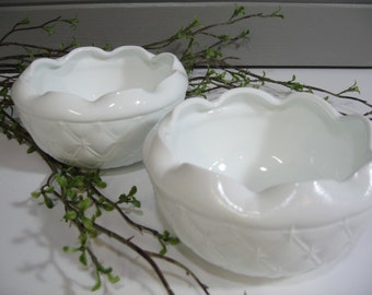 Milk Glass Bowls,  Milk Glass Planters, Organic, Mothers Day, Candy Dish