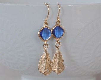 The Melody Earrings- Sapphire