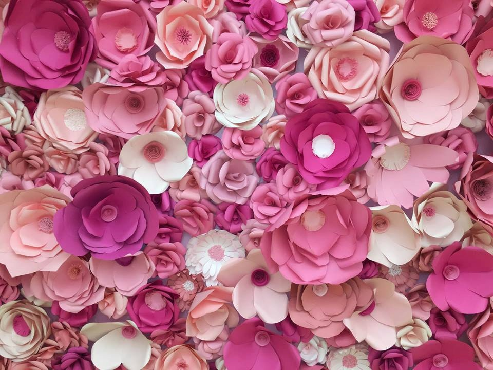 Paper Flower Backdrop Paper Flower Wall Photo Booth