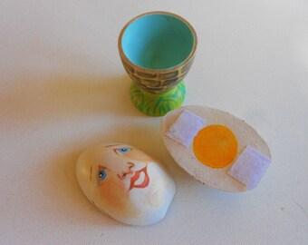 Wood Humpty Dumpty nursery rhyme take apart toddler toy Easter basket stuffer