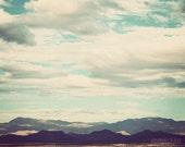 Landscape photograph, Southwest decor, Southwestern art, nature photography, mountain art - Arizona Sky