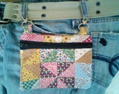 Handmade Hip Bag, Festival Gear, Belt Loop Pouch