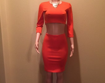 Pumpkin Colored Two Piece Set
