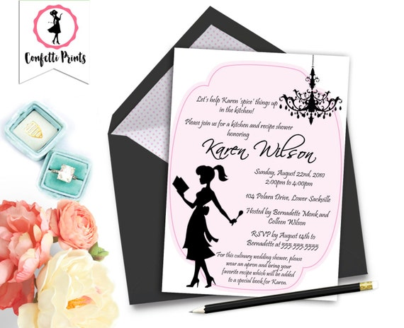 Kitchen Bridal Shower Invitation | Retro Bridal Shower | Pampered Chef Shower | Stock The Kitchen Shower - DESPERATE HOUSEWIFE Printable
