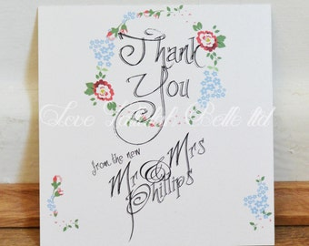 Pretty Flowers Thank You Note