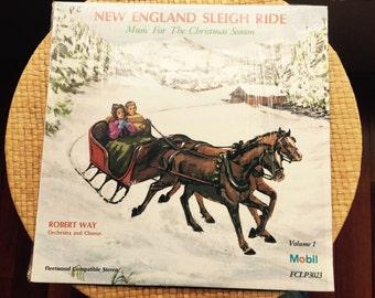 Robert Way New England Sleigh Ride Music for the Christmas Season Vintage LP