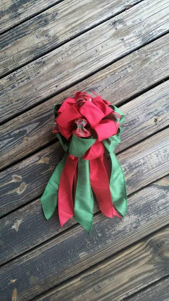 Christmas Bow, Christmas Tree Topper, Wreath Bow, Wedding Bow