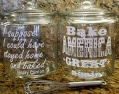 BAKE AMERICA Great Again Glass Cookie Jar Make America Great 1 gallon DIY Cookie Jar Glass Jar Custom Design yourself Candy Jar (1 gallon)