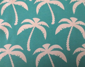 OUTDOOR Pillow Cover in an Aqua Blue Palm Tree Print / Turquoise Pillow Cover