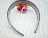 SALE--2 pcs green Satin Headbands-- 30mm Wide