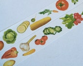 1 Roll Limited Edition Washi Tape: Fresh Vegetable