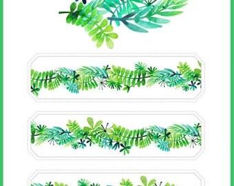 1 Roll of Limited Edition Washi Tape: Elegant Green Vine