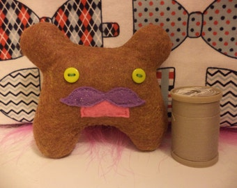 Mustatche Felt Monster