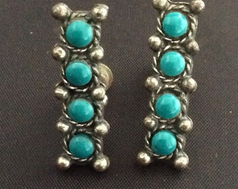 Sancrest Turquoise and Silver Earrings